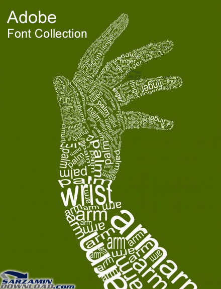 دانلود مجموعه فونت های کمپانی ادوبی - Adobe Font Collection - دانلود رایگان