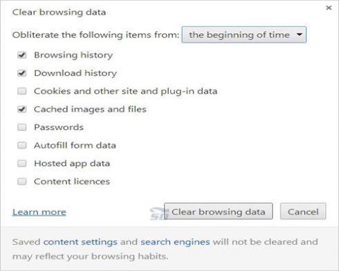 Google Chrome Clear Browsing Data آسان ترین راه پاک کردن History در مرورگر کروم