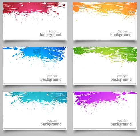 وکتورهای رنگارنگ برای طراحی بنر - Color Splash Vector Banners