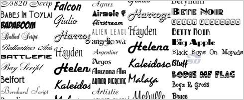 دانلود گلچین بهترین فونت های انگلیسی برای طراحان - Font Collection for Designers - دانلود رایگان