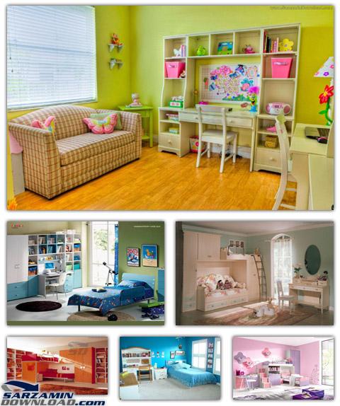 دانلود مجموعه عکس دکوراسیون اتاق کودک - Kids Room Decoration Pictures - دانلود رایگان