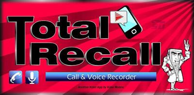 نرم افزار ضبط مکالمه اندروید - Total Recall Call Recorder 1.9 Android