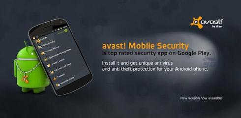 نرم افزار امنیتی اوست برای موبایل های اندروید - Avast Mobile Security v3 Android