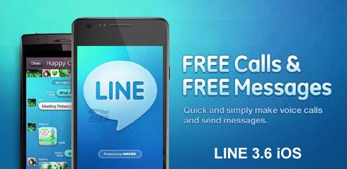 نسخه جدید نرم افزار لاین، برای آیفون - LINE 3.6 iOS