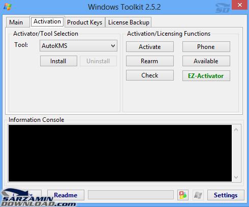 فعال ساز انواع نسخه های ویندوز و آفیس تولکیت 2.5.2
