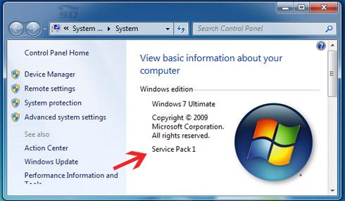ویندوز 7 سرویس پک
