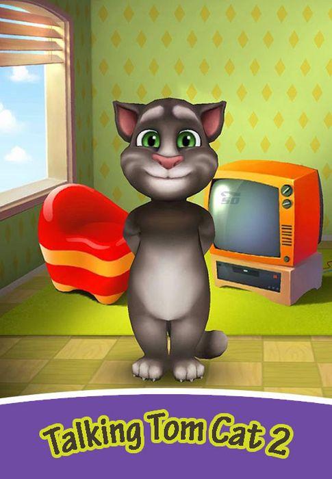 بازی تام، گربه سخنگو (به همراه نسخه هک شده) برای اندروید - Talking Tom Cat 2 v.4.7 Android