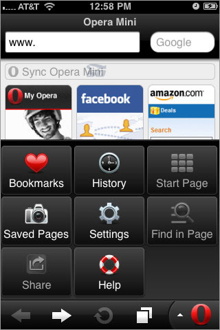 نرم افزار مرور گر اپرا مینی برای ویندوز فون - Opera Mini 0.9.0.8 WP