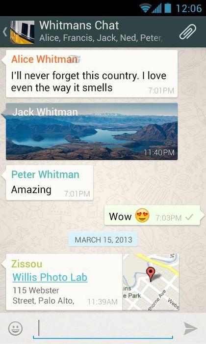 نرم افزار واتس اپ برای اندروید - WhatsApp 2.10.2 Android