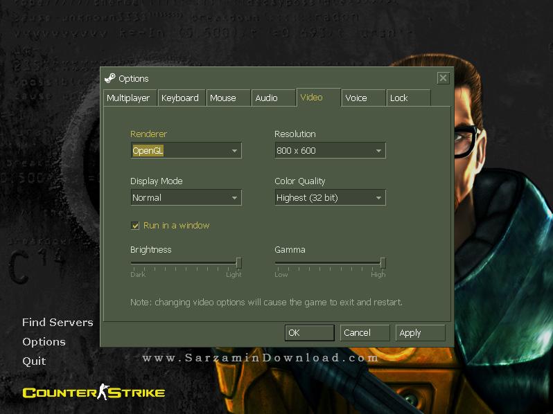بازی آنلاین کانتر استریک 1.6 ، به همراه سرورهای اختصاصی سرزمین دانلود - Counter Strike 1.6 v7