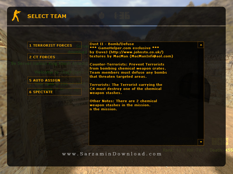 نسخه جدید کانتر استریک 1.6 ، به همراه سرورهای ایرانی - Counter Strike 1.6 + Iran Online Servers
