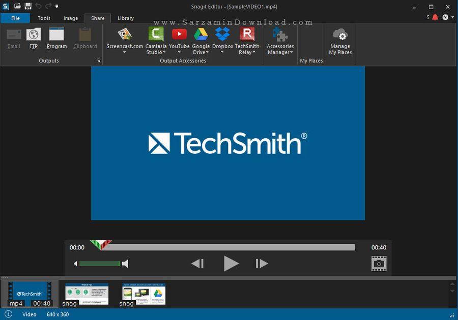 نرم افزار حرفه ای عکس برداری و فیلم برداری از دسکتاپ - Snagit 12.3