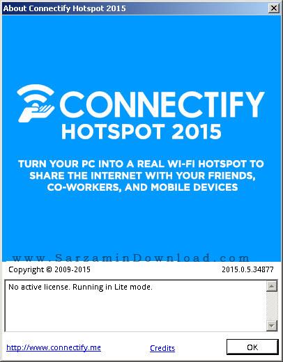 نرم افزار اشتراک گذاری اینترنت با وایرلس لپ تاپ - Connectify Hotspot 2015