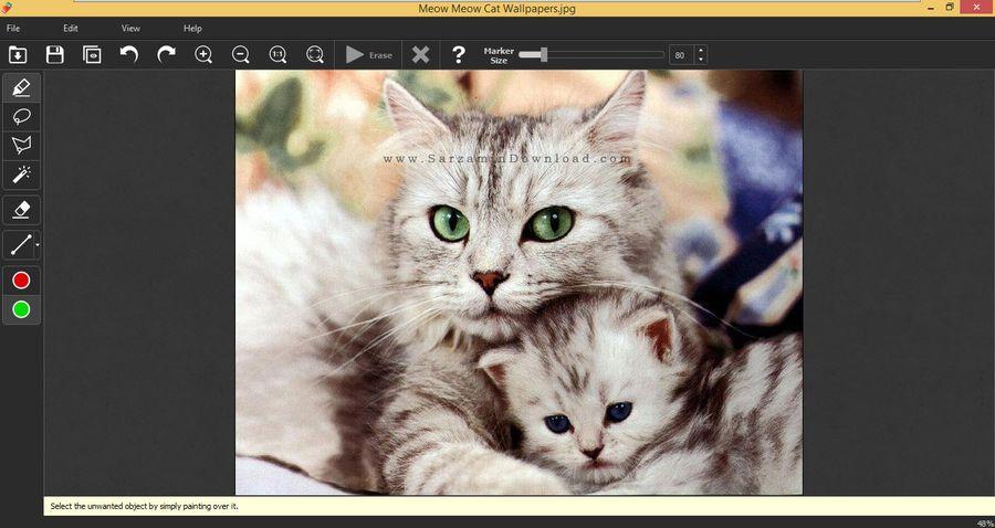 نرم افزار حذف قسمتی از عکس - Inpaint 6