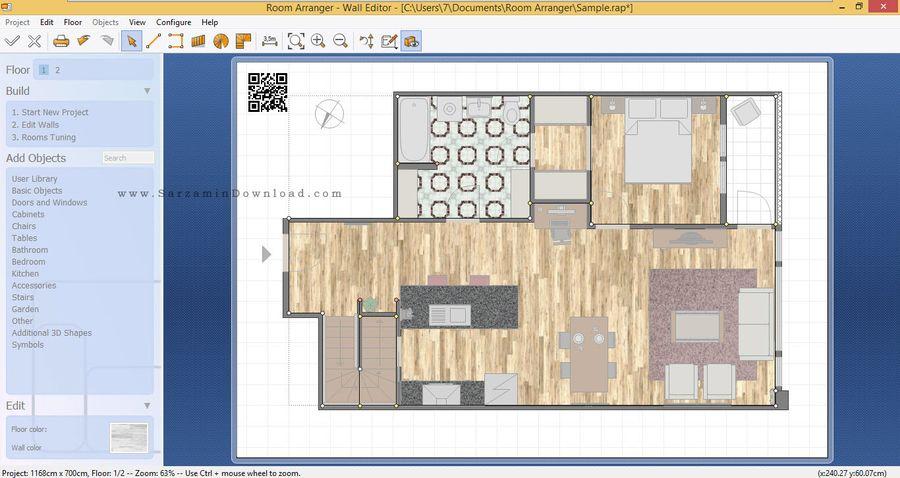نرم افزار طراحی دکوراسیون داخلی - Room Arranger 7.6