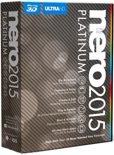 نرم افزار حرفه ای و کامل رایت CD و DVD نرو پلاتینیوم - Nero 2015 Platinum 16