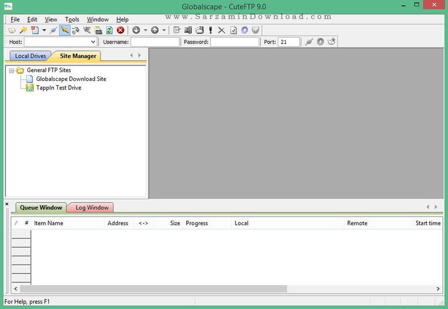 نرم افزار مدیریت انتقال فایل به سرور (اف تی پی) - CuteFTP Pro 9