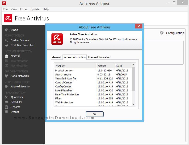 آنتی ویروس رایگان آویرا - Avira Free AntiVirus 15