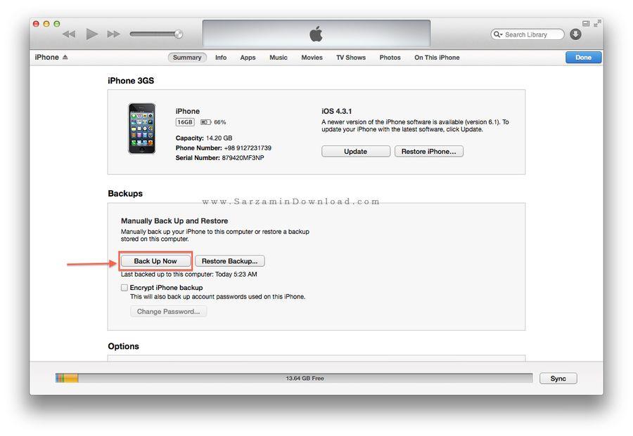 آموزش بکاپ گرفتن از آیفون,آموزش تصویری بکاپ گرفتن از آیفون,Backup iPhone,جدیدترین ترفندهای ایفون,ترفندهای ایفون,www.ineee.r98.ir,ترفندهای ios,بکاپ گرفتن از موبایل ایفون,ترفند و اموزش