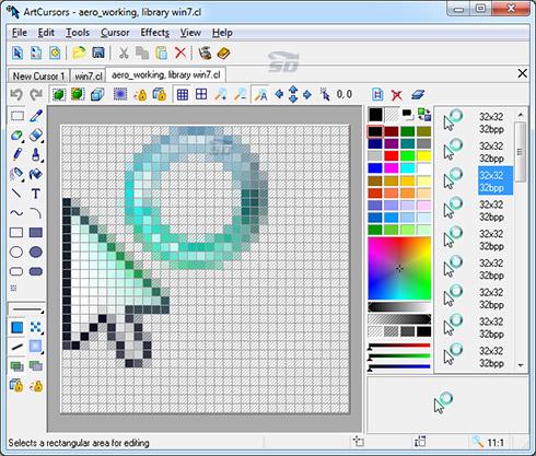 نرم افزار ایجاد و تغییر ظاهر نشانگر ماوس - Aha-Soft ArtCursors 5.26