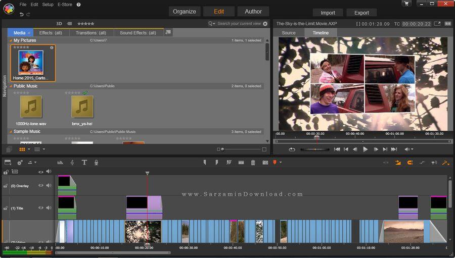 نرم افزار پیناکل استودیو، به همراه مجموعه افکت های آماده - Pinnacle Studio Ultimate 18