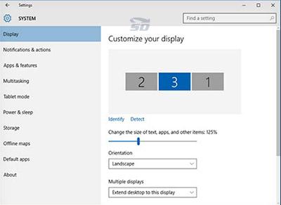 آموزش تنظیمات صفحه نمایش در ویندوز 10