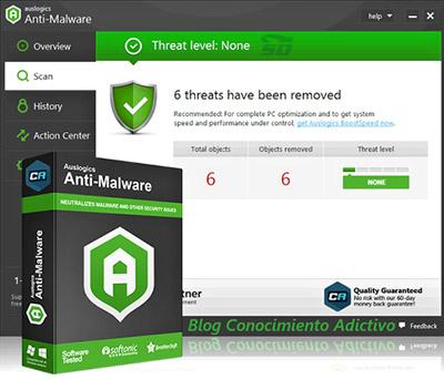 Auslogics Anti Malware 2015 1 5 2 0حذف بد افزار و تروجان - 100