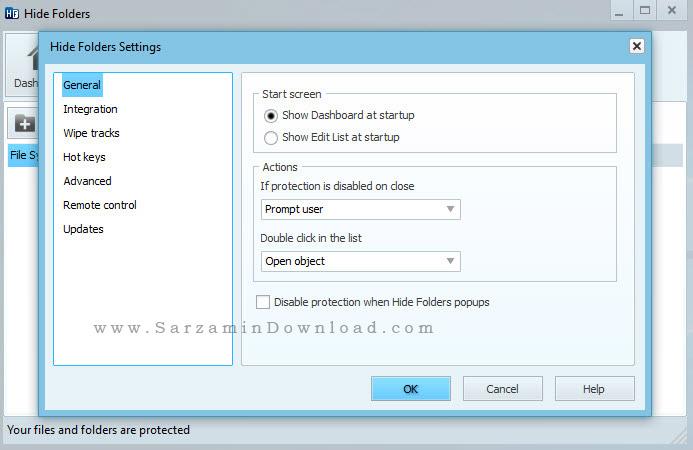 نرم افزار مخفی سازی فولدر - Hide Folders 5.3