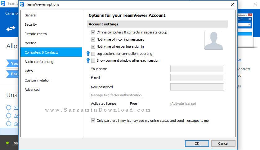 نرم افزار کنترل کامپیوتر ها از راه دور، تیم ویور - TeamViewer Free 11.0.52
