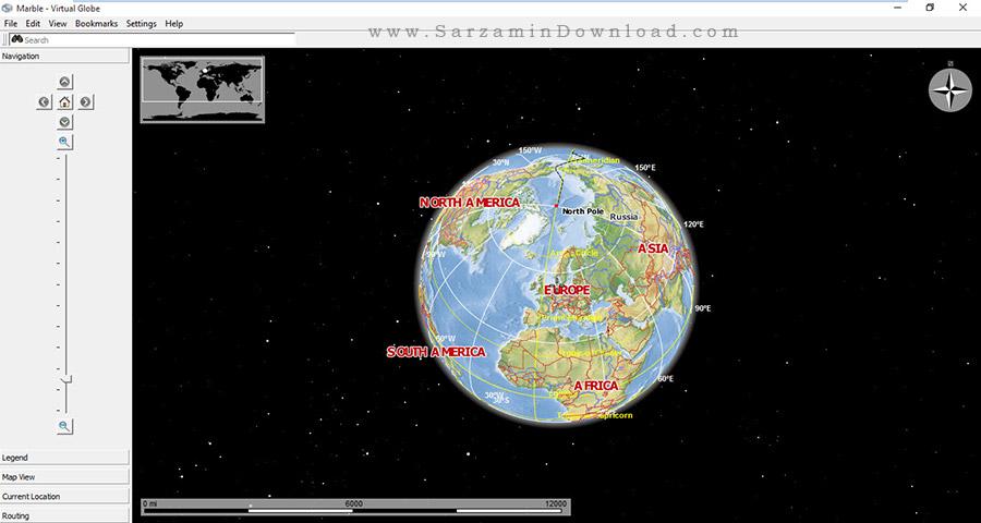 نرم افزار جغرافیا، اطلس جهان - Marble Desktop Globe 1.4