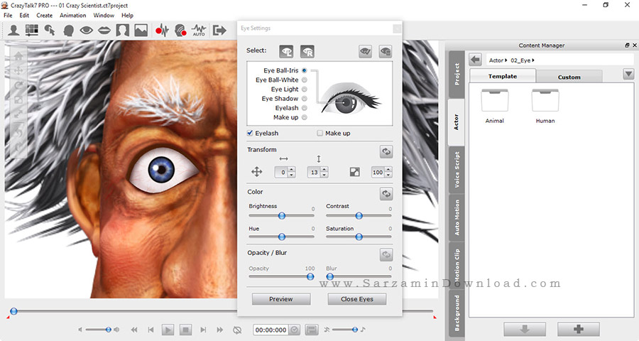 نرم افزار طراحی شخصیت - CrazyTalk 7.32 Pro