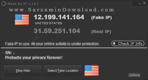 نرم افزار عوض کردن آی پی - Mask My IP 2.3