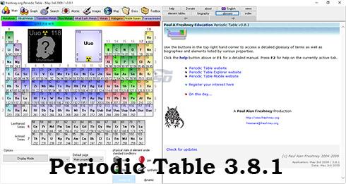 نرم افزار جدول تناوبی عناصر - Periodic Table 3.8.1