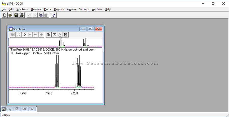 نرم افزار طیف سنجی - GNMR
