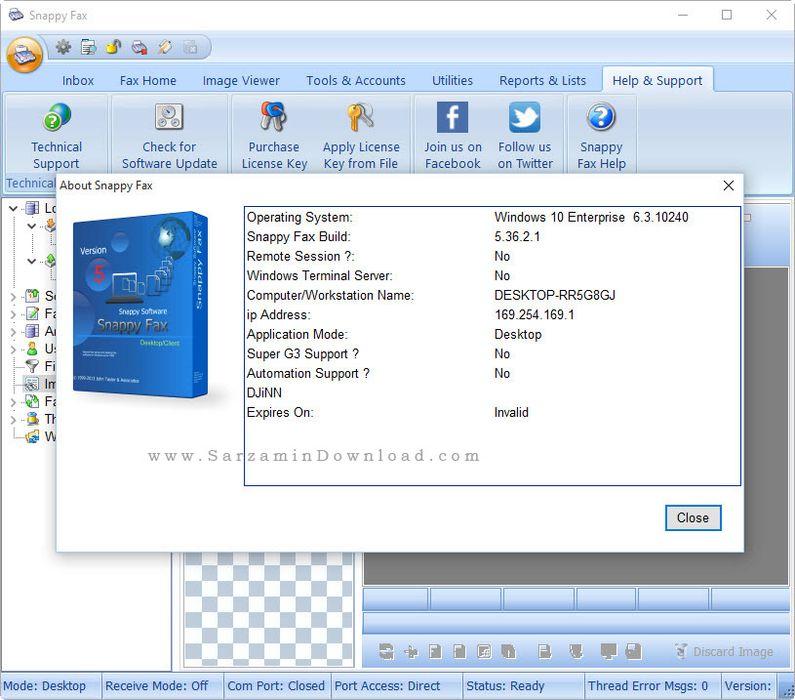 نرم افزار فکس برای کامپیوتر - Snappy Fax 5.36
