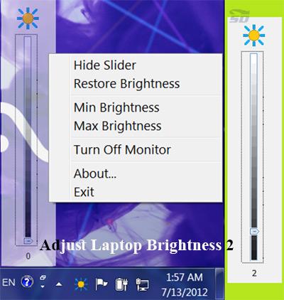 نرم افزار کاهش نور صفحه - Adjust Laptop Brightness 2