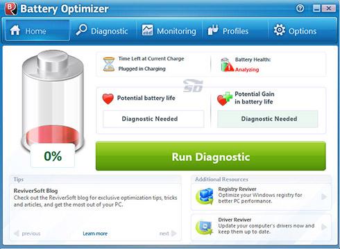 نرم افزار افزایش عمر باتری لپتاپ - Battery Optimizer 3.0.5