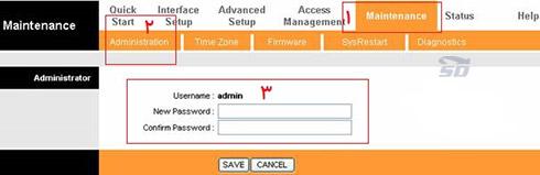آموزش تغییر پسورد صفحه تنظیمات مودم وایرلس
