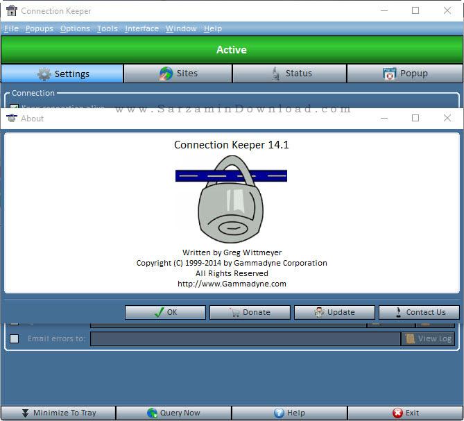 نرم افزار جلوگیری از قطع شدن اینترنت - Connection Keeper 14