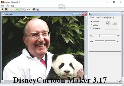 نرم افزار طراحی شخصیت کارتونی - Disney Cartoon Maker 3.17