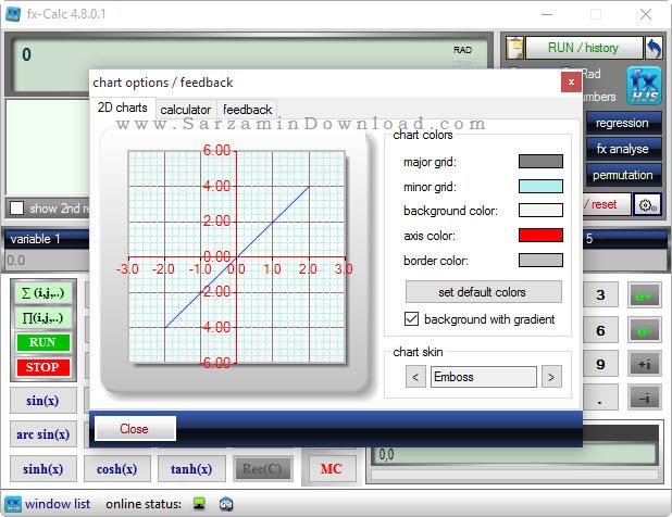 نرم افزار ماشین حساب مهندسی - fx-Calc 4.8