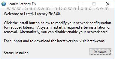 نرم افزار کاهش پینگ بازی - Leatrix Latency Fix 3