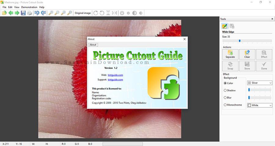 نرم افزار حذف بک گراند -  Picture Cutout Guide 1.2