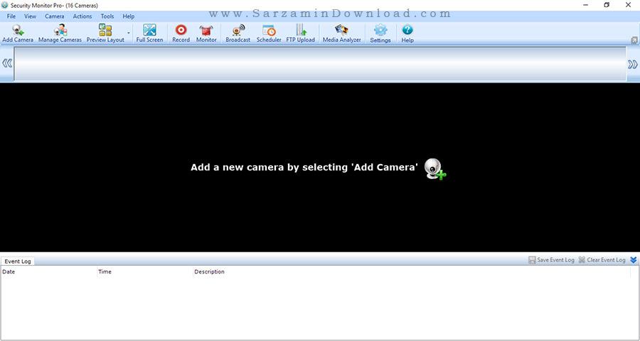 نرم افزار کنترل دوربین های مداربسته - Security Monitor Pro 4.48