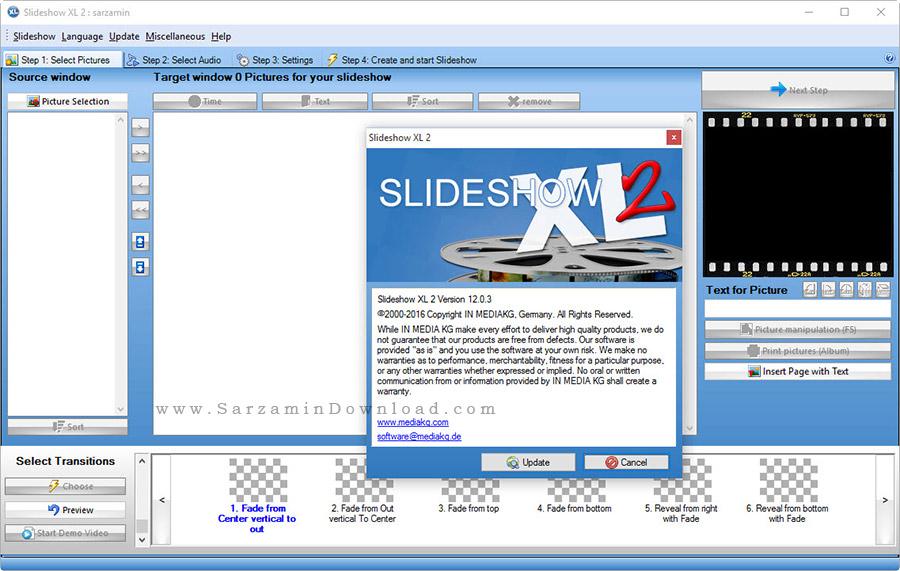 نرم افزار حرفه ای نمایش اسلاید عکس - Slideshow XL 10.5.8