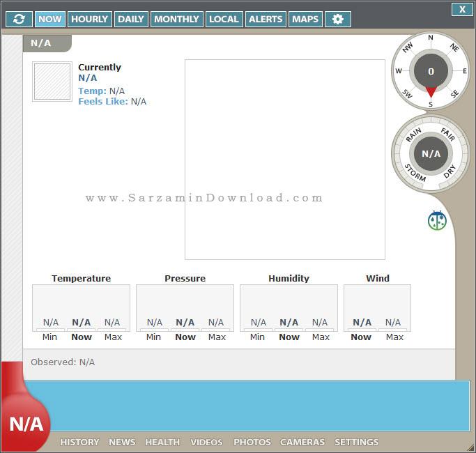 نرم افزار نمایش وضعیت آب و هوا برای ویندوز - Weather Watcher Live 7.1.80