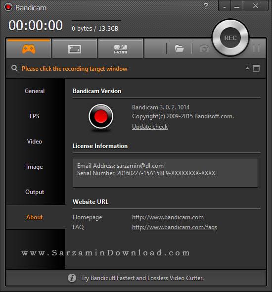 نرم افزار فیلمبرداری از دسکتاپ - Bandicam 3.0.2