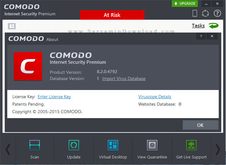 نرم افزار امنیت اینترنت - Comodo Internet Security Premium 8.2