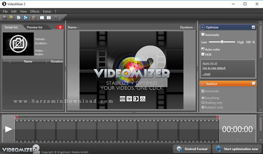 نرم افزار افزایش کیفیت فیلم - Engelmann Media Videomizer 2.0.14