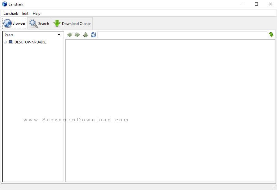 نرم افزار اشتراک گذاری فایل در شبکه - Lanshark 0.0.2